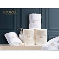Buy cheap Luxury Plain Dyed Hotel Towel Set In Pakistan Cotton With Embroidery Logo from wholesalers