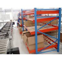 Buy cheap Gravitational Rolling Fluent Carton Flow Rack , Blue Steel Storage Racks from wholesalers