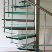 Buy cheap Spiral staircase glass stairs glass balustrade from wholesalers