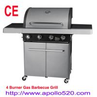 Buy cheap Gas BBQ on cart 4 Burner Grills Gas from wholesalers