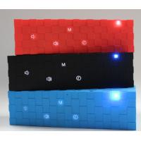 Buy cheap Portable Cube Bluetooth Speaker with Flashing Led Lights Red / Blue / Black outdoor speaker from wholesalers
