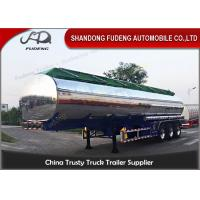 Buy cheap FUWA axle petrol fuel tanker semitrailer stainless steel tank trailer sale from wholesalers