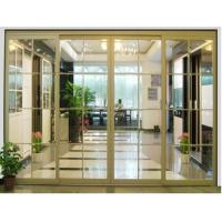 Buy cheap Heavy Duty Bypass Sliding Door, Interior Partition Sliding Door With Glass For Office from wholesalers