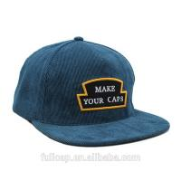 Buy cheap Blue Corduroy Snapback Hat , Blank Snapback Caps With Custom Woven Label Logo from wholesalers