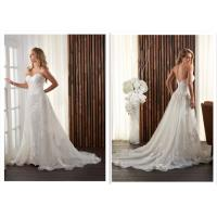 Buy cheap Long Classic Satin A Line Wedding Dress / Ivory Bridesmaid Dressing Gowns from wholesalers
