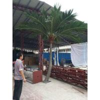 Buy cheap 2017 China wholesale artificial palm trees ,high imitation fiberglass bent coconut tree with fruit High quality from wholesalers
