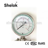 Buy cheap CE Manufacturer Oil Filled Diaphragm Stainless Steel Manometers, Pressure Gauges from wholesalers