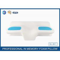 Buy cheap Unique Gel Memory Foam Wedge Pillow , 25.6X14.17X5.51 Inch Cooling Gel Bed Pillow from Wholesalers