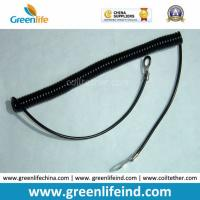 Buy cheap Plastic Black Elastic Tape Coiled Lanyard Holder Protect Avoid Missing from wholesalers