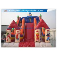 Buy cheap Customized Big Inflatable Water Slides With Clown Image For Amusement Park from wholesalers