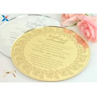 Buy cheap Round Shape Acrylic Gifts / Acrylic Wedding Invitation Cards With Different Color product
