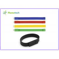 Buy cheap Silicone Bracelet Rubber Band Wristband USB Flash Drive 1 Year Guarante product