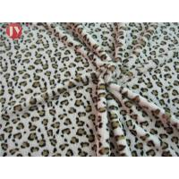 Buy cheap Customized Clothing Home Textile Plush Toy Fabric Knitted Printing Leopard Animal Polyester from wholesalers