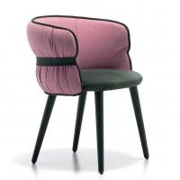 Buy cheap Merge Contemporary Coulisse Armchair / Classic Desig Leather Arm Chairs from wholesalers