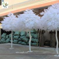 Buy cheap UVG GRE011 10ft white artificial christmas tree with wood fake banyan trees for party decoration from wholesalers