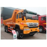 China U type tipper truck euro II 336hp engine 6x4 drive yellow color for clayey samd in wet site on sale