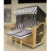 Buy cheap Double Seat Roofed Wicker Beach Chair & Strandkorb With Wood And Rattan Frame from wholesalers