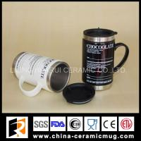 Buy cheap 340ml stainless steel ceramic mugs for promotional gifts from wholesalers