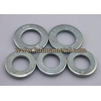 Buy cheap White zinc plated carbon steel flat washer from wholesalers