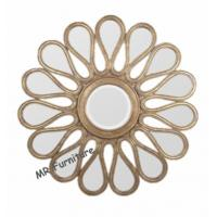 Buy cheap Mosaic Shell Mirrored Metal Wall Art, Decorative Round Mirror Wall Art from wholesalers