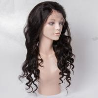Buy cheap Virgin Human Hair Lace Front Wigs No Shedding For Black Woman , Medium Brown Color from wholesalers
