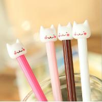 Buy cheap customized yiwu stationery cat plastic ball-point pen office&school beautiful cheap funny pen from wholesalers