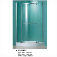 Buy cheap Sliding Open Bathroom Shower Enclosures Clear Tempered Glass with Quadrant Tray from wholesalers