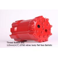 Buy cheap Thread Button Bits  GT60 115mm retrac body flat face Ballistic from wholesalers