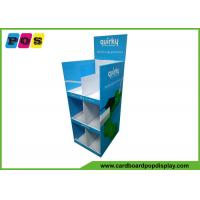 Blue Printing Cardboard Retail Display , Three Shelves Corrugated Floor Displays For Socket FL190