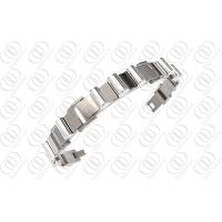 Buy cheap Silver Fashion Jewelry 8.5 Ti2 Titanium Bracelets For Men from wholesalers