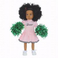 Buy cheap African American Black Girl Fashion Dolls Vinyl 18 inch Afro Hair from wholesalers