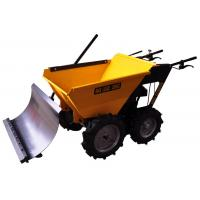 Buy cheap Unleaded Petrol Four Wheeled Wheelbarrow Garden Loader With Snow Plough from Wholesalers
