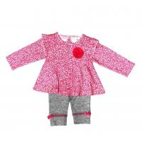 Buy cheap 12M 18M 24M Summer Infant Baby Clothes Girls 2 Pc Set With Flower Ribbons from wholesalers