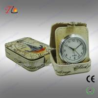 Buy cheap OEM design portable travel alarm clock in PU case CE ROHS from wholesalers