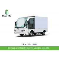 Buy cheap Practical Electric Cargo Van Bus With Enclosed Loading Box / Food Or Goods Electric Delivery Vehicles from wholesalers
