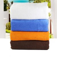 Buy cheap Hot sale 21S cotton plain terry bath towel 80*180cm, 600g for wholesale with 4 colors available from wholesalers