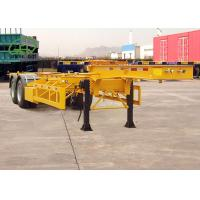 Buy cheap 35T Payload 30ft 2 Axle Gooseneck Chemical Tank Container Skeleton Semi Trailer from wholesalers