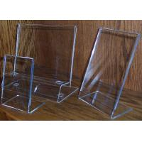 Buy cheap L Shaped Acrylic Pop Display , Clear Plexiglass Price Tag Holder product