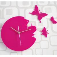 Buy cheap Butterfly Design Home Decorative Contemporary Wall Clocks SH-046 from wholesalers