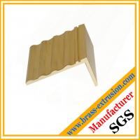 Buy cheap Brass building decoration stair nosing / edging / trims made of brass copper alloy extrusion profiles 5~180mm OEM ODM from wholesalers