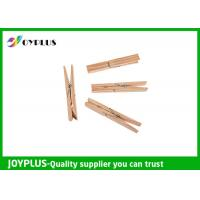 Buy cheap Safety Household Plastic Clothes Pegs Wooden Clips For Clothes OEM / ODM Available from wholesalers