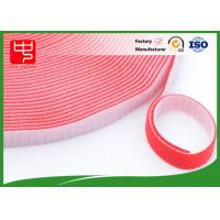 Buy cheap 15mm red hook and loop tape double sided hook and loop , back to back hook and loop Durability from wholesalers