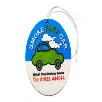 Buy cheap Car Air Freshener Logo printed car freshener custom Air Freshener from wholesalers