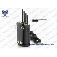 Buy cheap Silver Color Portable Cell Phone Jammer CDMA GSM DCS PCS 3G Efficient Range 0 - 20 Meters from wholesalers