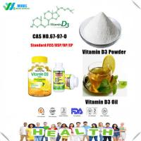 Buy cheap Nature Vitamin d3 powder/vitamin d3 Oil CAS .67-97-0 Cholecalciferol Factory Price from wholesalers