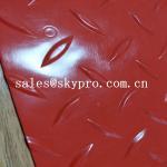 Buy cheap Black 2mm / 3mm Plastic Sheet PVC anti slip vinyl film roll pvc fine ribbed floor mat from wholesalers