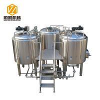 Steam Heating Beer Brewing Equipment 1000L Stainless Steel Three Vessels