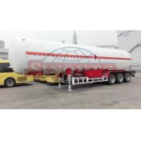 Buy cheap 55m3 LPG Tank Trailer , 12R22.5 Tire 3 Alxe LPG Semi Trailer Air Suspension from wholesalers