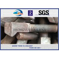 Buy cheap M20x100mm Special Railroad Bolts With Clip Bolt Head HDG Coating from wholesalers