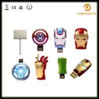 Buy cheap Avengers USB Flash Drive 4G Iron Man 8G Pen Drive 16G Captain America 32G USB from wholesalers
